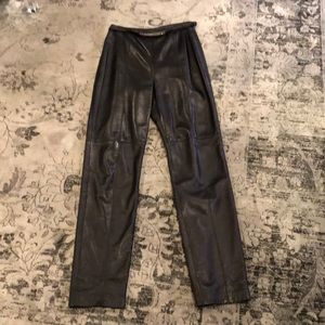Vintage buttery leather pants, 4